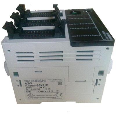 三菱PLC  FX3UC-96MT/D价格 48点DC24V漏型输入/48点晶体管漏型输出