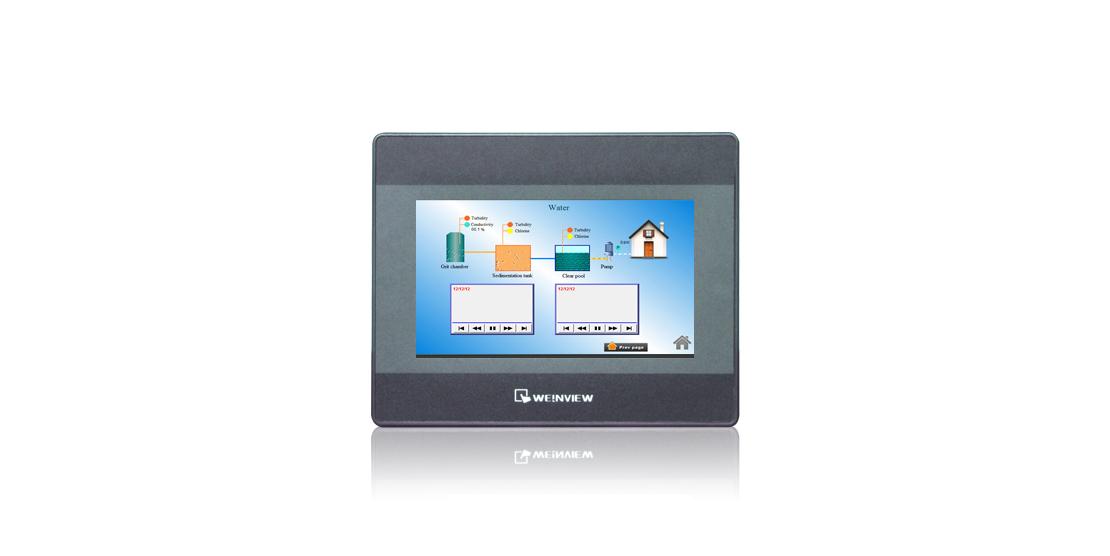 人机界面 MT6071iP 威纶通7寸触摸屏 USB Host/USB Client/串行接口连接